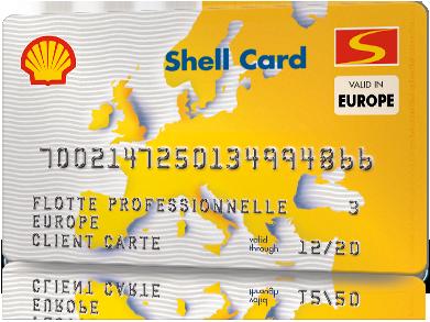 Plus de 7000 Shell stations à travers l'Europe acceptent la euroShell Сard Single International